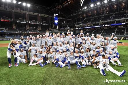 Dodgers ganan título de la Nacional y jugarán Serie Mundial contra Rays