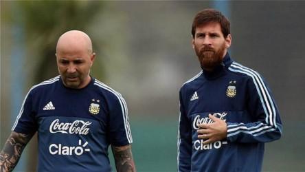 """Sampaoli: """"Esta Argentina es más de Messi que mía"""""""