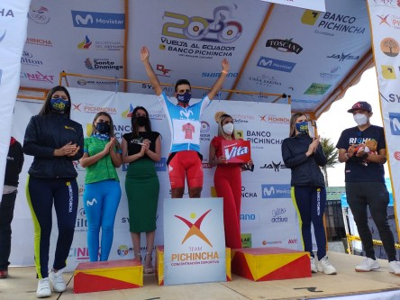 Joel Burbano gana la cuarta etapa de la Vuelta al Ecuador