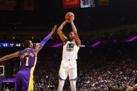 Durant y Warriors pueden con Lakers; Wizards ganan duelo a Celtics (Resumen)
