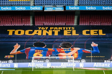 Messi iguala la marca de Xavi