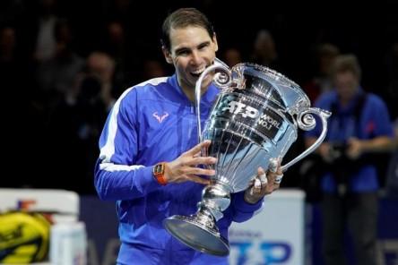 Nadal, Djokovic y Federer, podio de honor en 2019