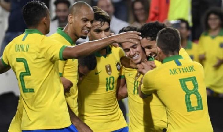 (3-0) Brasil quiebra un ayuno sin victorias y vence en último amistoso del año