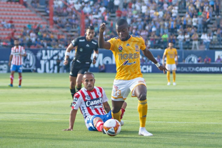 Enner Valencia entró al cambio en el empate de Tigres