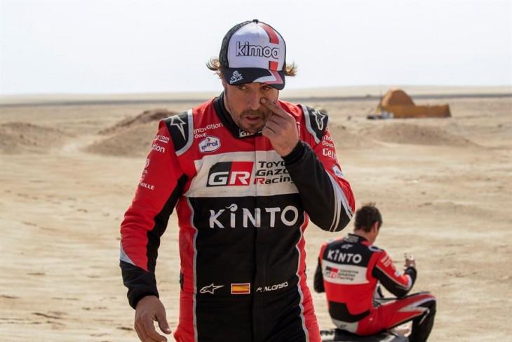 """Fernando Alonso en modo Le Mans en el Dakar: """"Adelanté como a 60 coches"""""""