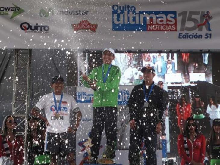 Olímpicos ecuatorianos, peruano Machacuay y colombiano Tello en cita de Quito