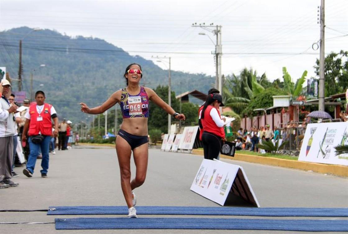 Magaly Bonilla cruzó la meta en 4 horas, 19 minutos y 36 segundos y derribó la marca de 4h39:28