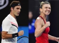 Federer y Halep brillan en Melbourne Park (Resumen)