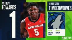 Timberwolves sorprenden con selección de Edwards como número 1 universitario