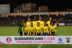 Ecuador resbaló en su debut en el Sudamericano Sub 20 femenino