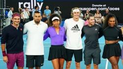 Nadal, Djokovic y Federer, en exhibición contra los incendios en Australia