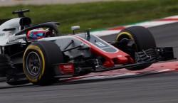 Grosjean (Haas), el más rápido en los entrenamientos matinales de Montmeló