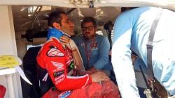 El portugués Paulo Gonçalves abandona el rally Dakar por una fuerte caída