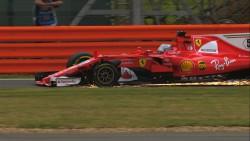 """Pirelli indica que problema de Vettel en Silverstone fue un """"pinchazo lento"""""""