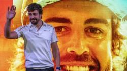 Alonso volvió a pilotar un F1, horas después de su despedida