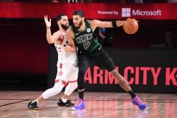 Celtics destronan a Raptors en el Este; Nuggets dan suspense en el Oeste (Resumen)