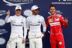 Hamilton estrena 2017 dominando en la 'pole', Ferrari se acerca