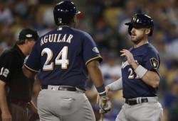 Aguilar da vida a Cerveceros y Puig establece marca con Dodgers