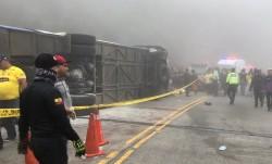 Malos antecedentes del bus de hinchas 'toreros' fallecidos