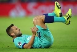Jordi Alba sufre una lesión en el bíceps femoral