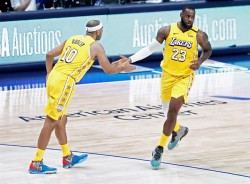 Harden alcanza la marca de los 20.000 puntos; Lakers suman ocho victorias