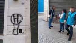 Detienen a hincha de Huracán que rompe cuarentena para pintar escudo del club