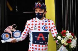 """Carapaz: """"Vamos a defender el maillot de líder de la montaña"""""""