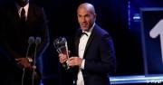 Zidane recibe el premio 'The Best' a mejor entrenador del año