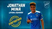 Jonathan Mina fue anunciado por el 'Trencito Azul'