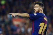 El Barça llega al primer cuarto de la Liga líder, aguantado por Messi