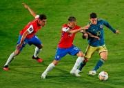 (2-2) Colombia rescato un empate sobre la hora en Chile