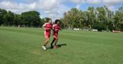 Murillo cumplió su primera práctica en Estudiantes