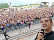 Griezmann festeja el Mundial en su Macon natal
