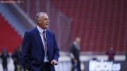 Alfaro presenció el amistoso entre Liga y Universidad Católica