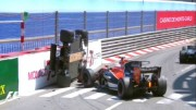 Button tendrá sanción si vuelve a competir, por el accidente de Wehrlein
