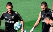 Hazard y James completan el entrenamiento con el grupo