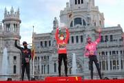 Roglic celebra en Cibeles su doblete en la Vuelta y Ackermann gana el esprint