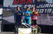 Doménica Azuero se sube al podio en la final élite de la Copa Sudamericana de BMX