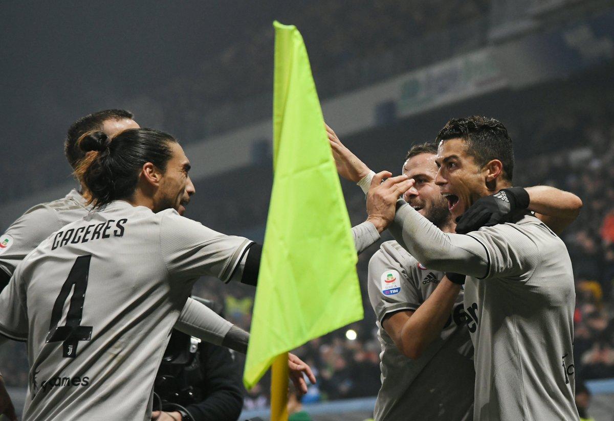 El portugués marcó un tanto y su equipo lleva 11 puntos de ventaja sobre el Nápoles