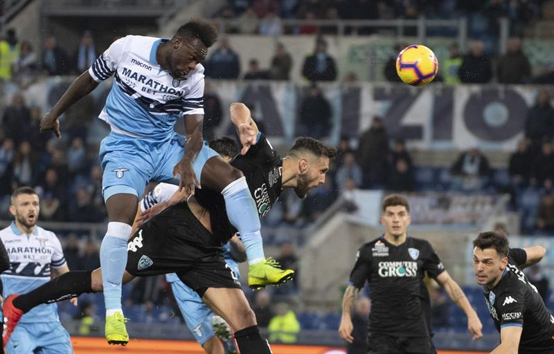 El pasado jueves la Lazio venció al Empoli con gol de Felipe Caicedo e iguala con 38 puntos al  Atalanta y a la Roma