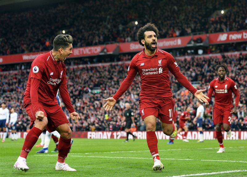 Los 'Reds' superaron 2x1 a Tottenham en Anfield