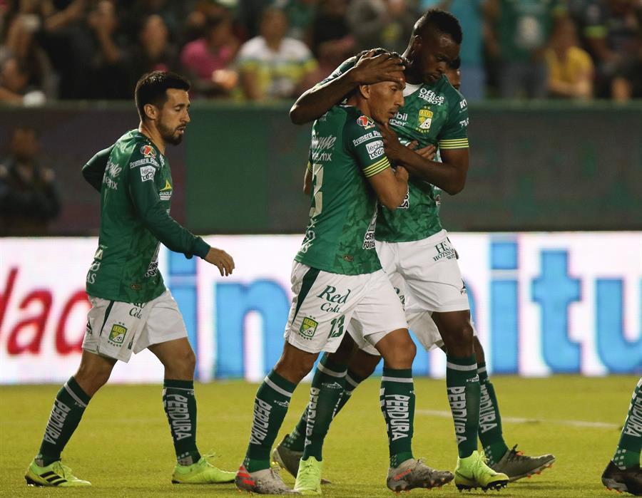 El ecuatoriano convirtió un doblete en la victoria de los 'Panzas Verdes' sobre Querétaro