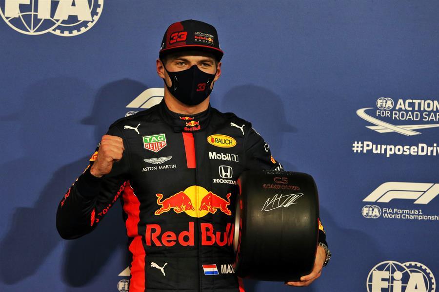 El holandés dio la sorpresa en la clasificación del último Gran Premio de la temporada