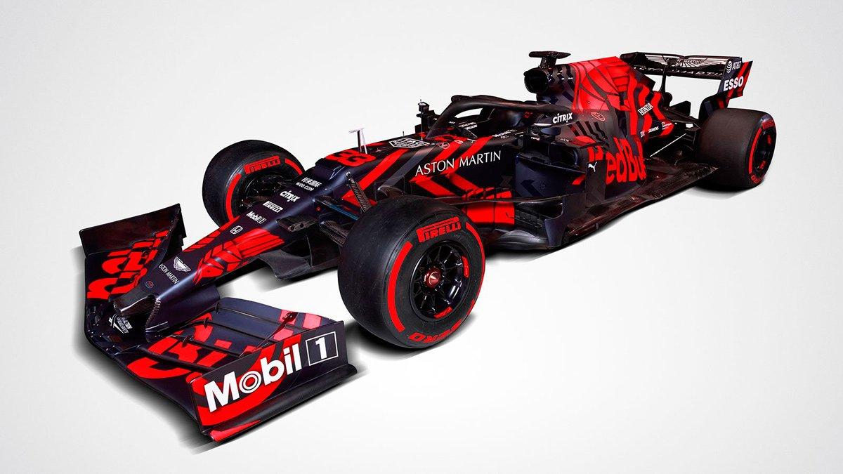 Este bólido será el primero de Red Bull en su nueva alianza con los motores Honda y con Aston Martin como patrocinador