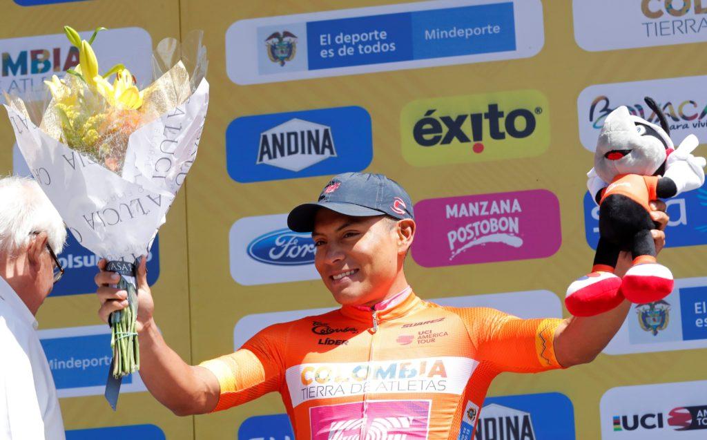 El ciclista ecuatoriano Jonathan Caicedo celebró su arranque en la Tour Colombia