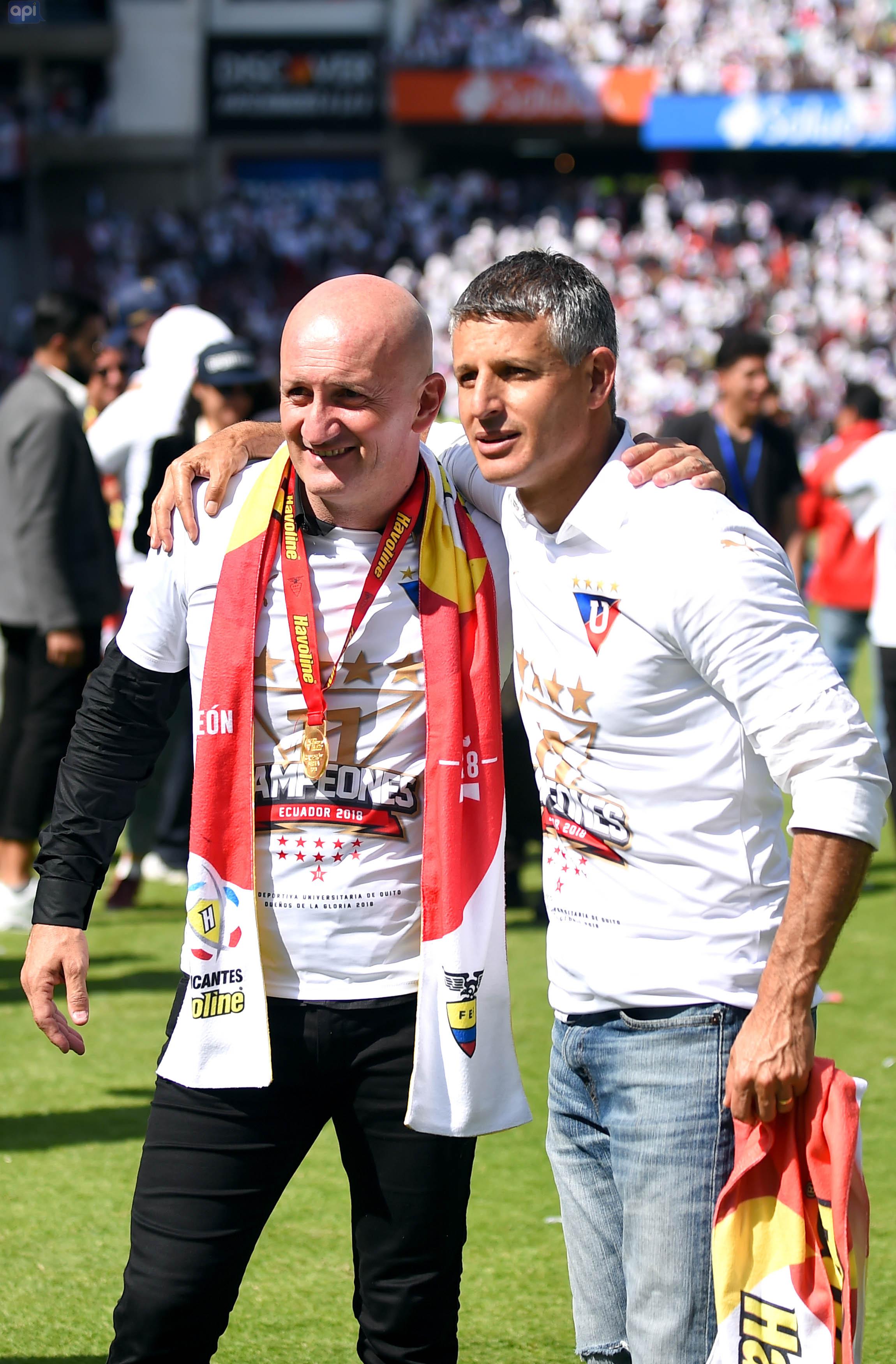 Santiago Jácome se refirió al respaldo de la directiva de LDUQ al estratega Repetto y la recuperación de Julio y Ordóñez