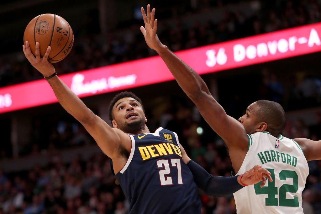 El base canadiense registró su mejor marca profesional en la victoria de los Nuggets sobre los Celtics