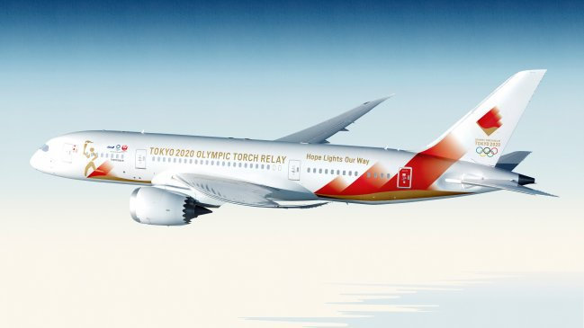 La aeronave, un Boeing 787-3, será de color blanco y estará decorado con un logo en tonos rojos y naranjas imitando a la llama