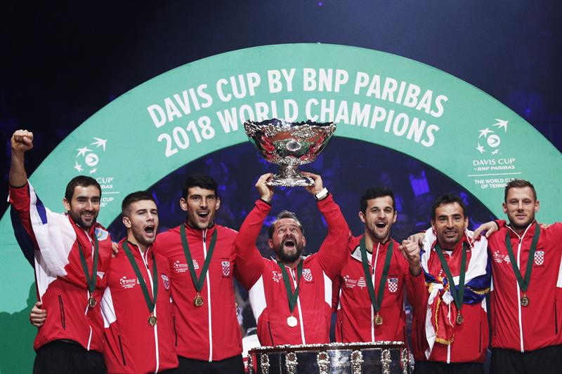 Marin Cilic venció a Lucas Pouille y logró el punto definitivo para el título croata