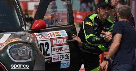 Tras tres días de entrenamiento, el ganador del Dakar en motos y en coches, se ha mostrado también muy satisfecho con su nuevo copiloto, Dani Oliveras